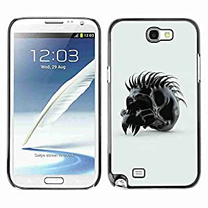 Planetar? ( Spiked Skull ) Samsung Galaxy Note 2 II / N7100 hard printing protective cover protector sleeve case