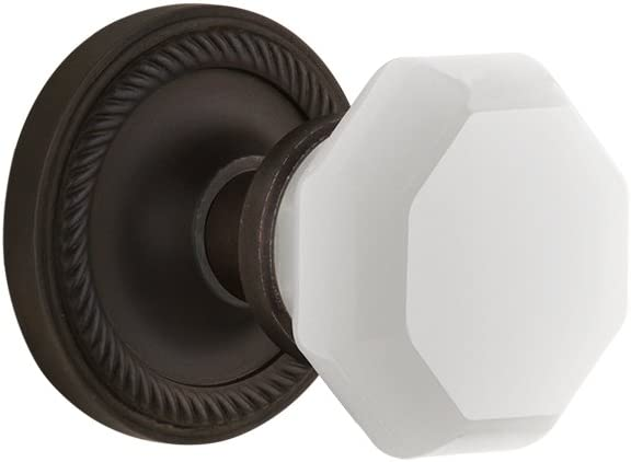 Nostalgic Warehouse 748618 Rope Rosette Waldorf White Milk Glass Knob Single Dummy Oil Rubbed Bronze Amazon Com