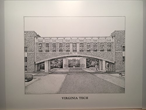 Virginia Tech - 11''x14'' pen and ink print by Campus Scenes