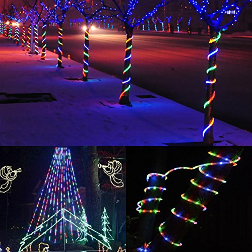 Le 33ft 240 leds rope string lights multicolor waterproof indoor le 33ft 240 leds rope string lights aloadofball Image collections