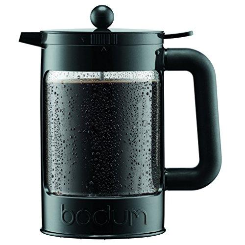 Bodum Bean Cold Brew Coffee Maker, Press, Plastic, 1.5 Liter, 51 Ounce, Black by Bodum