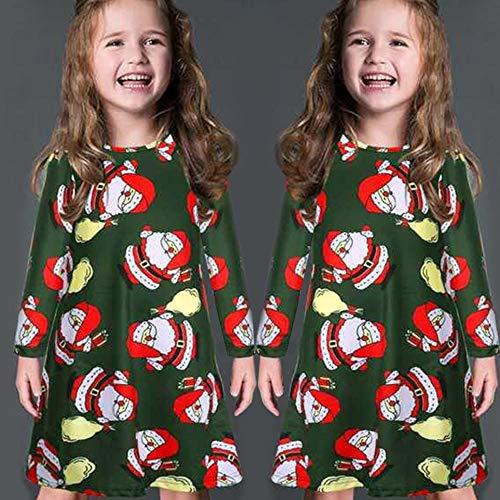 GoodLock Clearance!! Baby Boys Girls Christmas Dress Toddler Kids Long Sleeve Cartoon Print Dress Clothes (Green, 18 Months) by GoodLock (Image #2)