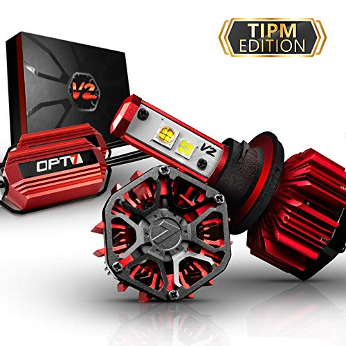 OPT7 FluxBeam H7 LED Headlight Kit w/Clear ARC-Lens Beam Bulbs & TIPM Resistor Kit - 60w 7,000Lm 5K OEM Bright White CREE– for Dodge, Ram, Jeep, Chrysler