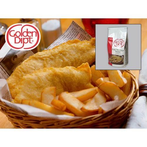 Golden Dipt Fish and Chips Batter 5 lb. bag (Best Fish And Chips Recipe)
