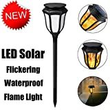 Rambly LED Solar Torch Flame Effect Fire Light Waterproof Garden...