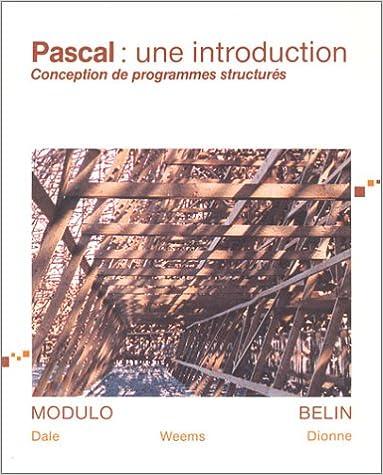 Livre gratuits en ligne Pascale : Une introduction, conception de programmes structurés pdf epub