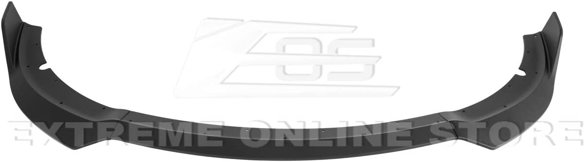 SRT Style ABS Plastic Painted Black Front Bumper Lower Lip Splitter FLIP-246-ABS Extreme Online Store Replacement for 2015-Present Dodge Charger