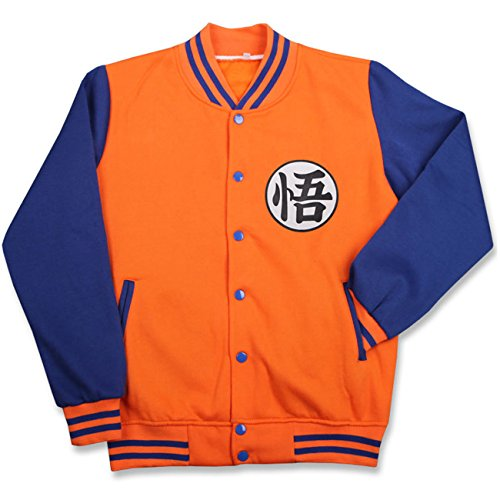 Pulle-A Anime Cosplay Dragon Ball Z Super Saiyan Goku Turtle Master Roshi Costume Button Long Sleeve Baseball Jacket WU S