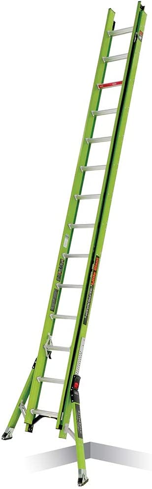 Little Giant Ladder Systems 18828 HyperLite SumoStance, 28' -Type IA-300 lbs Rated, Fiberglass Extension Ladder, Green