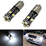 iJDMTOY 8-SMD Error Free BA9 64132 H6W LED Bulbs For European Cars Parking Lights, Xenon White