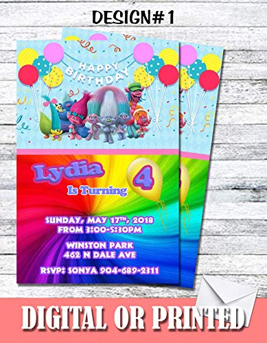 Trolls Personalized Birthday Invitations More Designs Inside ()