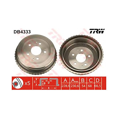 TRW DB4333 Brake Drums: