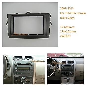 zwnav coche estéreo Radio Fascia Facia panel completo Kit de montaje para radio para Toyota Corolla