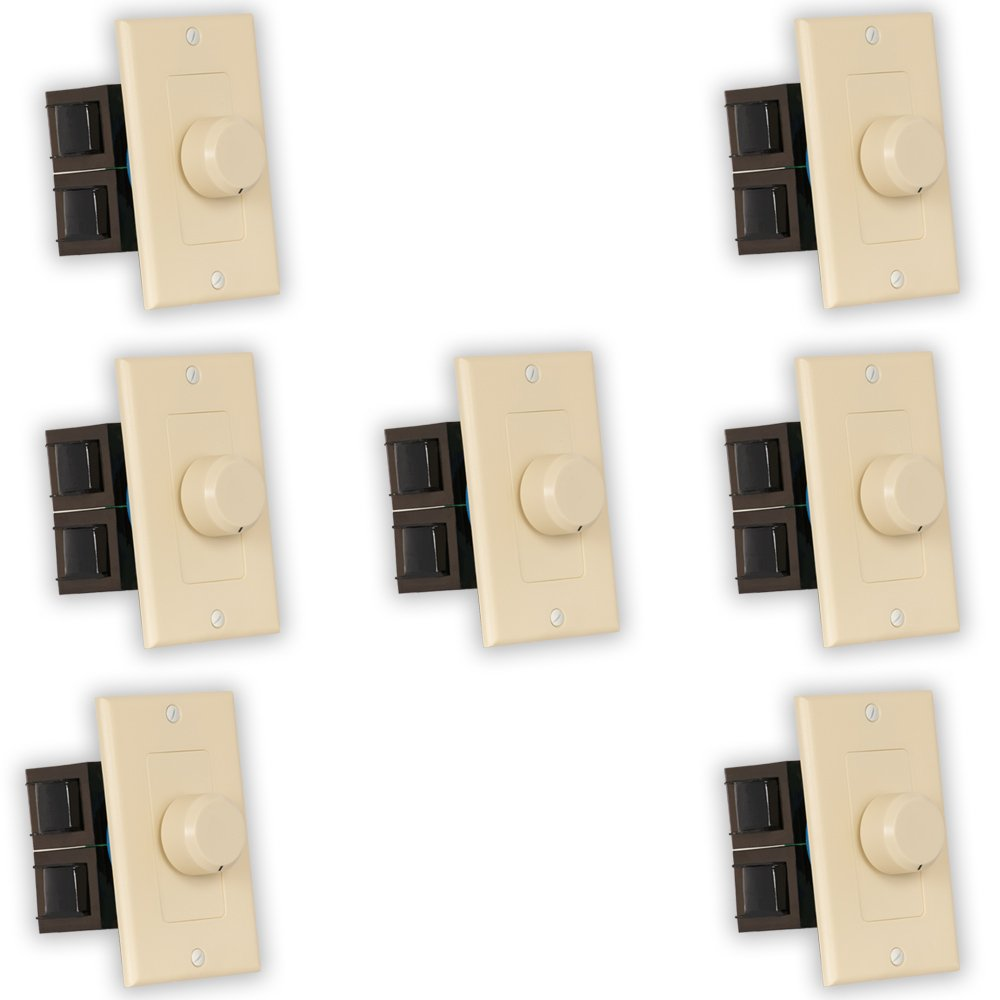 Theater Solutions TSVCD-I Indoor Speaker Volume Controls Ivory Dial Audio Switches 7 Piece Pack
