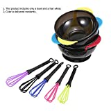 Anself 2 in 1 Hair Coloring Bowl Hair Whisk Dye Cream Mixer Stirrer Barber Hair Dyeing Kit DIY Tools
