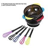Anself 2 in 1 Hair Coloring Bowl Hair Whisk Dye Cream Mixer Stirrer Barber Hair Dyeing Kit DIY Tools