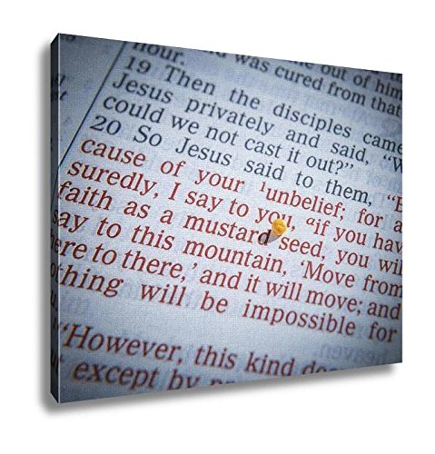Ashley Canvas, Mustard Seed And Open Bible, Home Decoration Office, Ready to Hang, 20x25, AG6605395 by Ashley Canvas