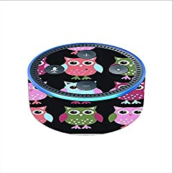 Skin Decal Vinyl Wrap for Amazon Echo Dot 2 stickers skins cover (2nd generation) / Cute Owls