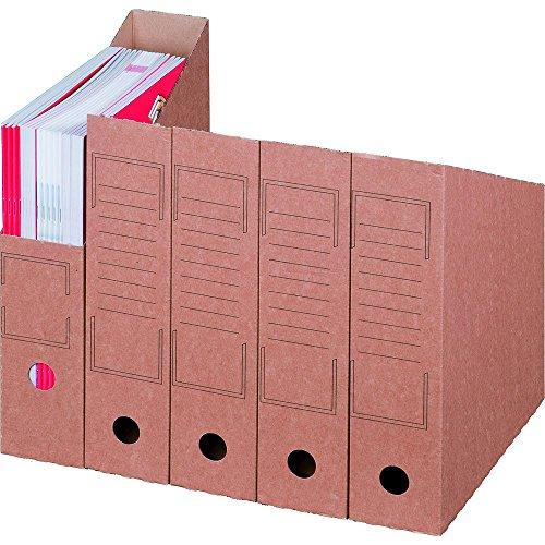 karton-billiger Stehsammler 75 - 20Stück - braun