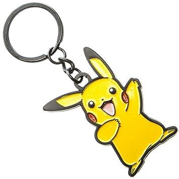 Licencia de oficial Nintendo Pokémon Pikachu carácter Metal llavero amarillo