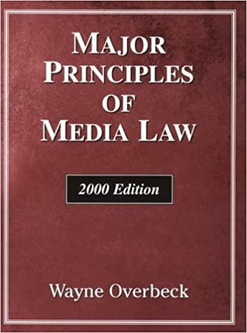 Book Overbeck Major Principles of Media Law 2000