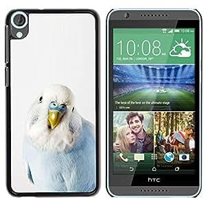 Be Good Phone Accessory // Dura Cáscara cubierta Protectora Caso Carcasa Funda de Protección para HTC Desire 820 // Bird Parrot Blue Baby White Yellow Peak