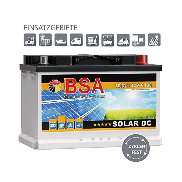51BJGp5MTYS BSA Solar DC 12V 100Ah Batterie Solarbatterie Versorgungsbatterie Boot Wohnmobil - 6 Grössen (100Ah)
