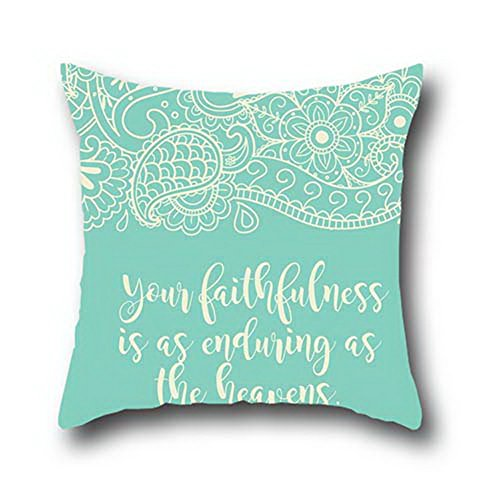 Robert Beautifulmite And Allergy Control Pillow Protector Christian Bible Verse Square Decorative Throw Cover Handmade Pillowcase Cushion Covers 20*30
