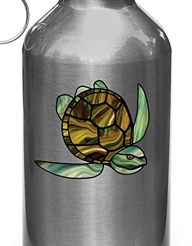(Yadda-Yadda Design Co. Honu Sea Turtle - Stained Glass Style Vinyl Decal for Water Bottle | Thermos | Car Gas Cap - Copyright 2016 YYDC (2.75