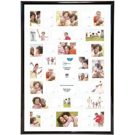 Mainstays 27x40 41-Opening Trendsetter Collage Poster & Picture Frame Made of plastic,Plexiglass insert, Black, Collage by Mainstays'