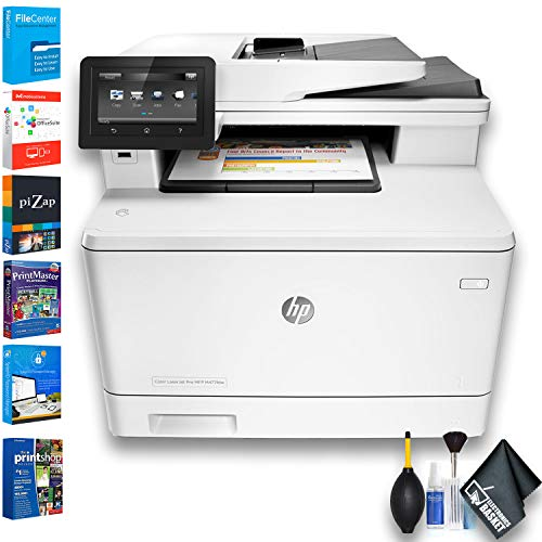 HP Color Laserjet Pro M477fdw All-in-One Laser Printer (CF379A) W/Printer Essentials Software ()