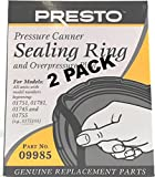 2 Pk, Presto Pressure Cooker Sealing Ring 09985