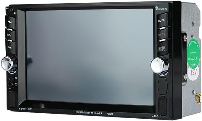 Car Stereo Player MP5 con Smart 6.6 Pulgadas 1080P HD Display Audio Blue-Tooth Video Support Interconexión de teléfonos: Amazon.es: Electrónica