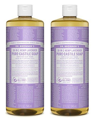Dr. Bronners Pure-Castile Liquid Soap Value Pack  Lavender 32oz. (2 Pack)
