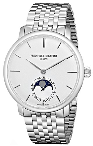 Frederique Constant Men s FC705S4S6B Slim Line Analog Display Swiss Automatic Silver Watch
