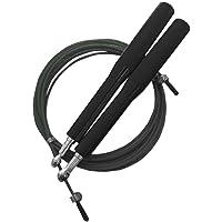 Corda Pular Aço Crossfit 3m Rolamento Speed Profissional Preto