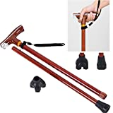 Lightweight Walking Cane Stick,Metal Non-Slip with Led Light Crutches for Unisex Arthritis Seniors Disabled Elderly Best Mobility Aids Cane