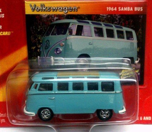 (1964 SAMBA BUS light blue Volkswagen / 2004 Johnny Lightning / Volkswagen Collection / 1:64 scale collectible die cast car)