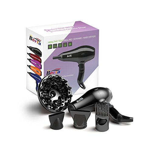 Berta Hair Dryer Professional Negative Ionic 1875W Blow Dryer