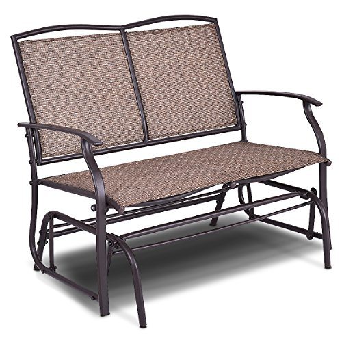 Amazon Com Giantex Patio Glider Bench Outdoor Swing