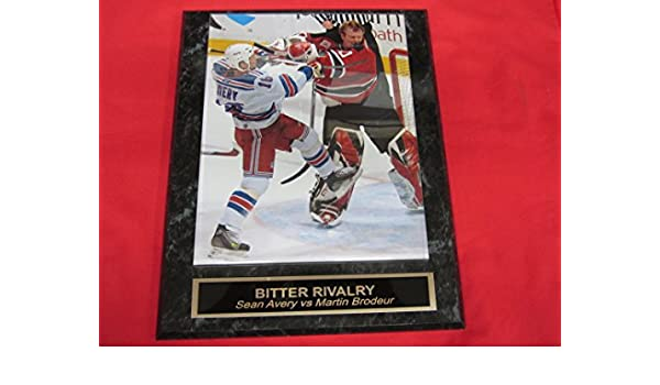 Amazon Com Martin Brodeur Vs Sean Avery Engraved Collector Plaque W