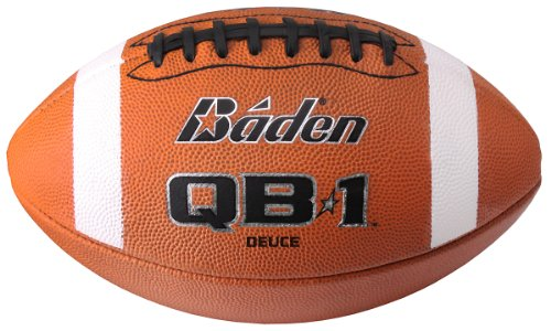 Baden F7000D Offical sz QB1 Deuce Leather Football with Black Lace NFHS