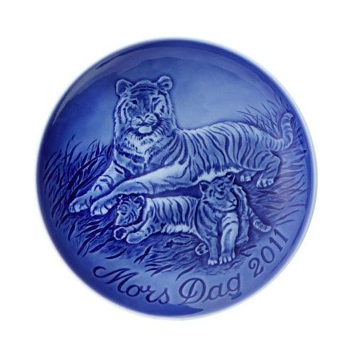 Royal Copenhagen Mothers Day Plate - 2011 Bing and Grondahl Mothers Day Plate, Tigress with Cubs by Royal Copenhagen