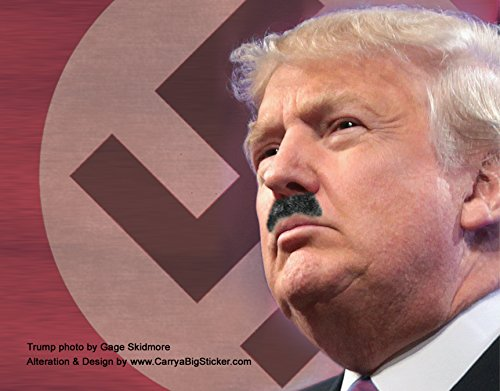 Price comparison product image Donald Trump Hitler Magnetic Bumper Sticker (Poster Style)