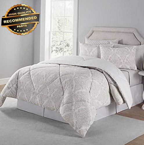 Gatton Premium New 6 Piece Reversible Comforter and Coverlet Set Kate Queen Bed | Style Collection Comforter-311012518