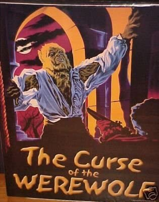 Curse of thr Werewolf Old film Poster reproduction