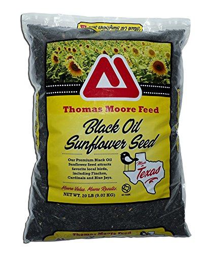 Thomas Moore Feed TMF Premium Quality Black Oil Sunflower Bird Seed, 20 lb by Thomas Moore Feed