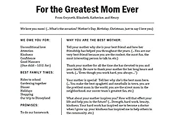 A Letter To Mom.Amazon Com Unique Gift Letter For Mom Mother S Day Gift