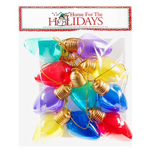 Darice Holiday Oversized Christmas Bulb Garland - Plastic - Multicolor - 9 feet (1 Pack), ()