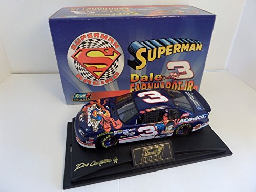 1999 Dale Earnhardt Jr #3 AC Delco Superman 1/24 Revell Collection Hood, Trunk Open With Acrylic Display Case and Certificate of Authenticity Limited Edition (Collection Revell)